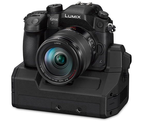 Panasonic Gh4 with optional YAGH unit.