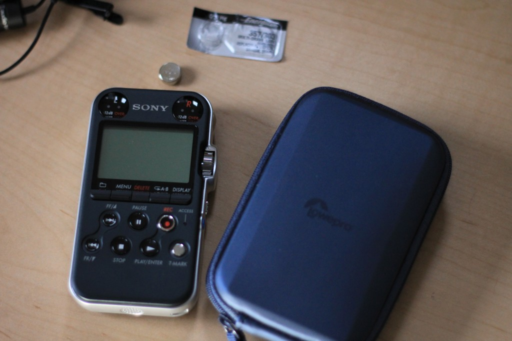 Sony PCM M10 and Lowepro Volta 20