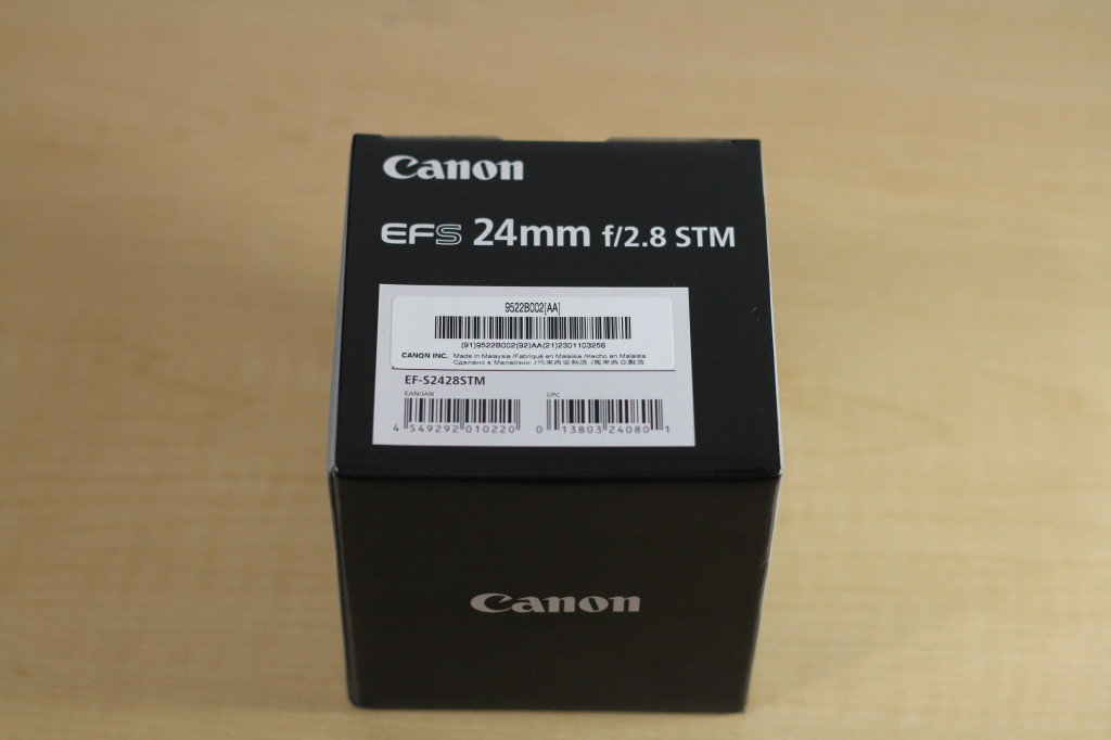 Canon EFS 24MM STM Box